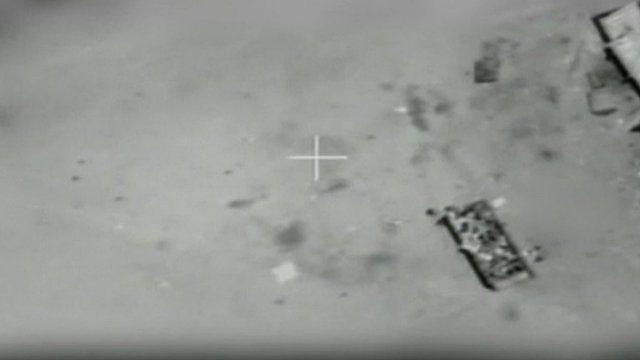 Israeli footage of aborted airstrike