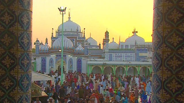 Sufi shrine of Shah Abdul Latif Bhittai