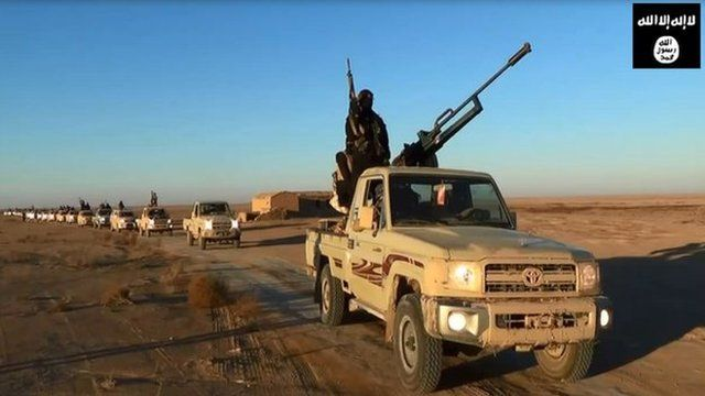 Isis fighters in propaganda video footage