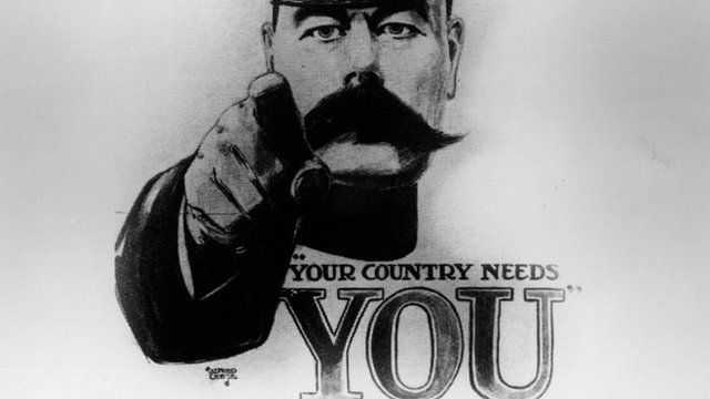 The famous World War I recruiting poster featuring Lord Kitchener