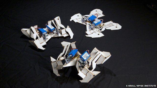 Self-folding robots (c) S Kroll/Wyss Institute