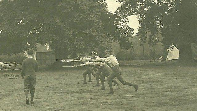 Artists' Rifles Regiment train in Gidea Park