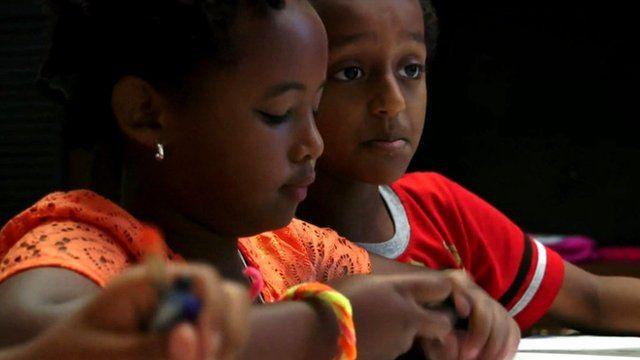 Young Ethiopians in Washington