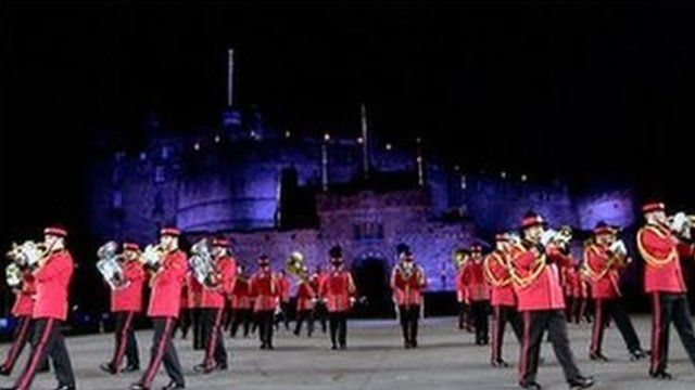 Performers at the Edinburgh Military Tattoo