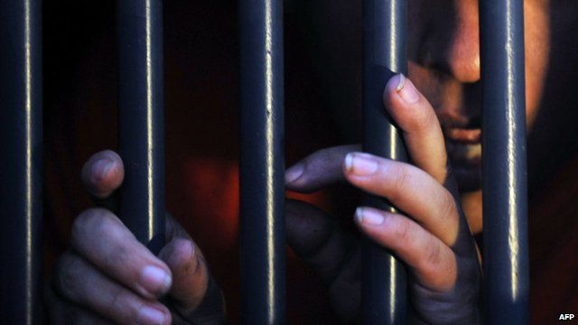 A man in jail
