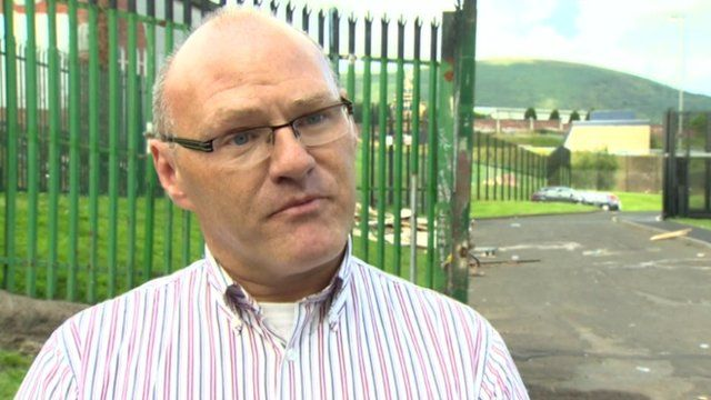 West Belfast MP Paul Maskey called for the bonfire to be removed
