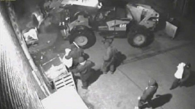 CCTV of bungled raid