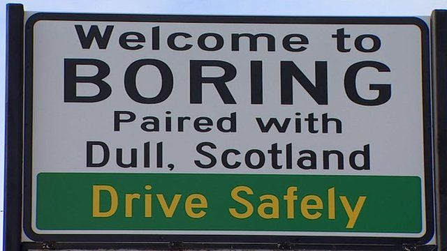 Welcome to Boring sign