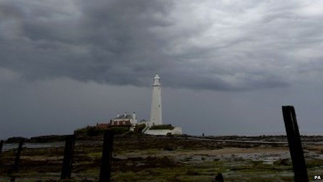Storm over lighthouse
