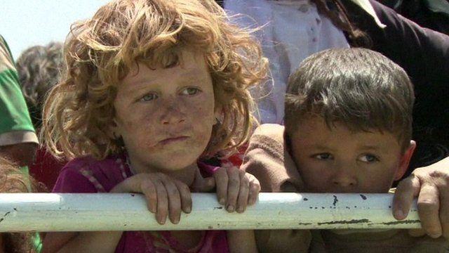 Yazidis fleeing the turmoil