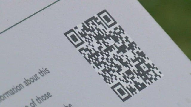 QR code at war grave cemetery