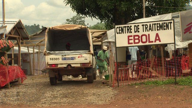 Sign for Ebola Treatment Centre in Guinea