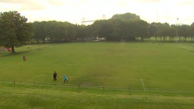 Playing fields in Pill, Newport