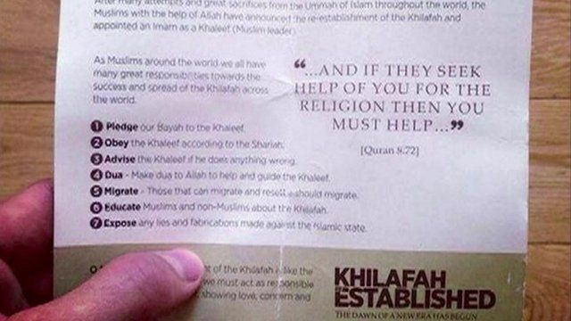 The leaflets were handed out on Oxford Street in London's West End