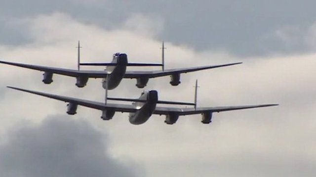 The two Lancasters were the first to fly in formation for more than 50 years