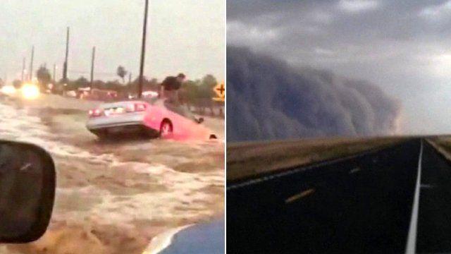 Weather in Arizona and Washington State
