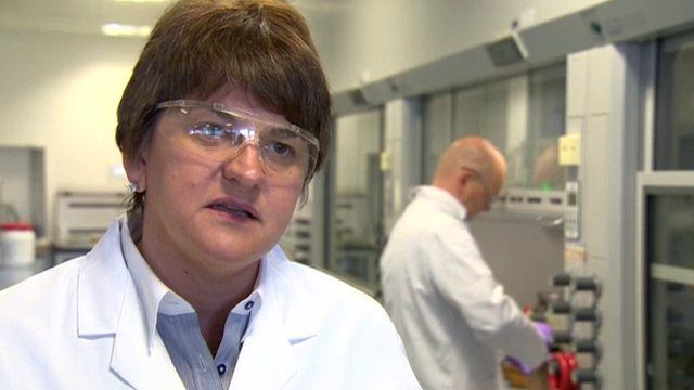 Enterprise Minister Arlene Foster said Stormont departments are helping the industry with investments