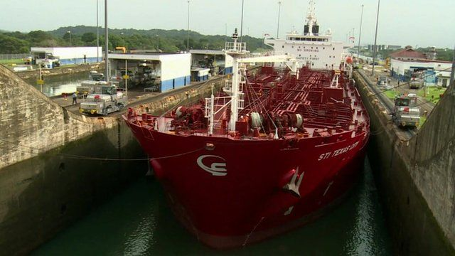 Ship in the Panama Canal