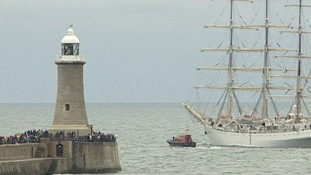 Tall Ships Race on Tyneside