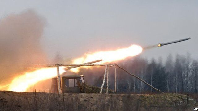 File picture of Grad rocket launcher