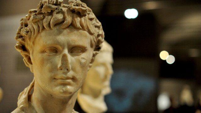 A sculpture of Augustus