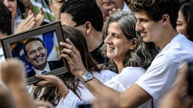 Funeral of Brazilian presidential candidate Eduardo Campos