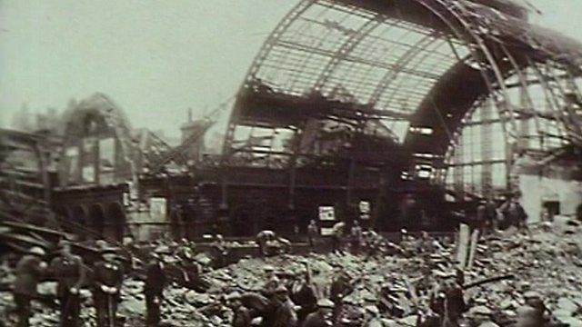 Aftermath of Middlesbrough train station bomb