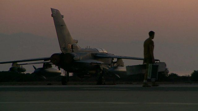 RAF jet on tarmac