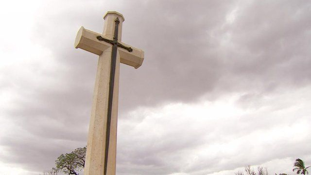 A memorial in a cemetery