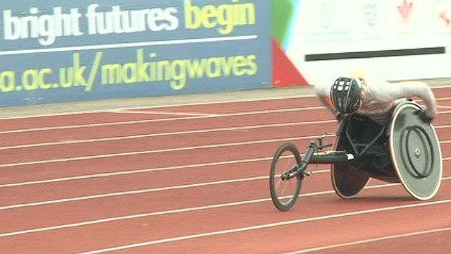 Para-athlete in Swansea