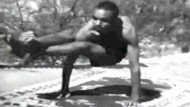 BKS Iyengar practising his style of yoga in the 1930s