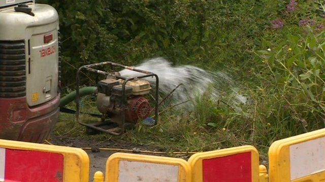 water being pumped from gas mains