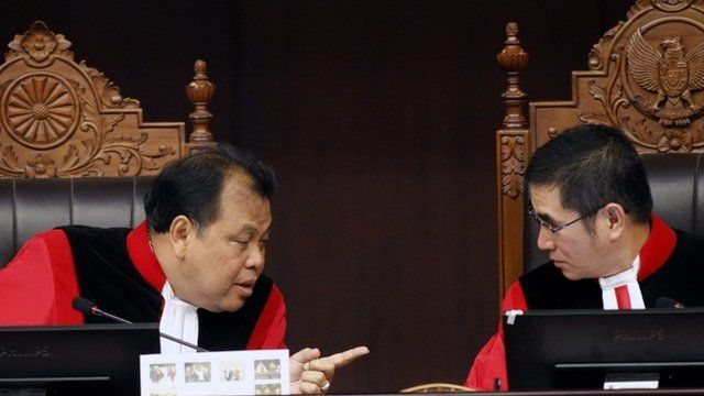 Judges in court in Indonesia