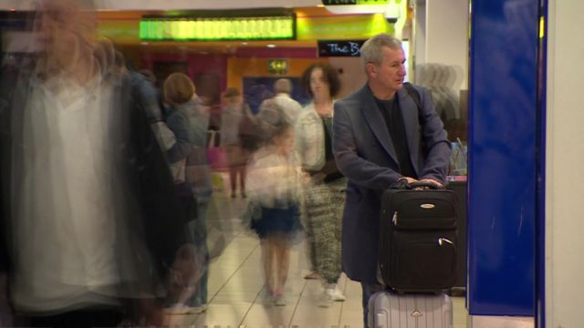 Passengers at Luton Airport