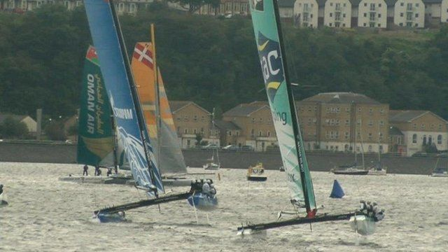 Catamarans in the Extreme Sailing Series