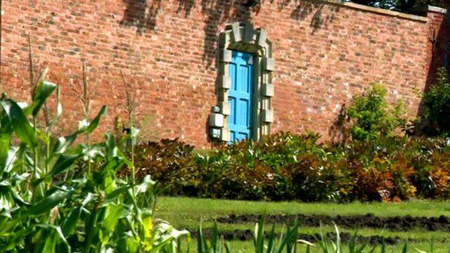 Garden with door in it