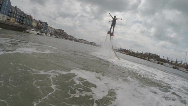 Ayshah fly-boarding