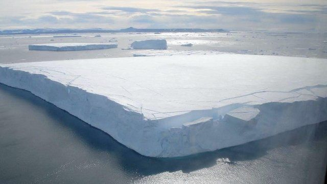 A floating iceberg off the Antarctic peninsula