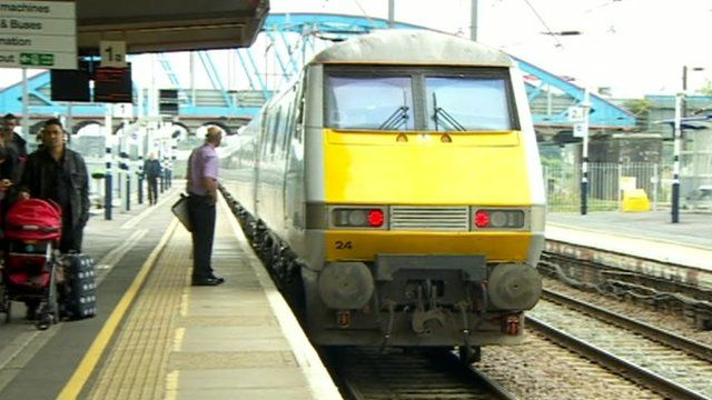 Train on platforrm