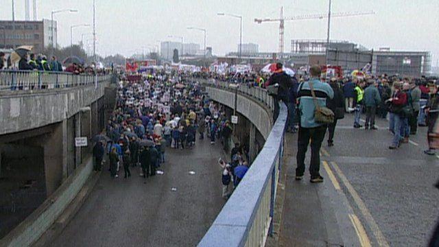 Birmingham city centre in 2000