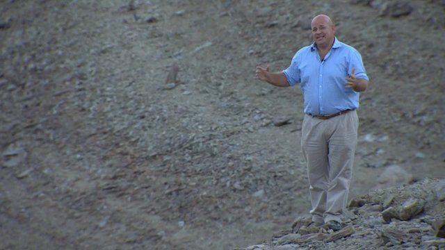 The BBC's Alistair Leithead reports from a dry California reservoir