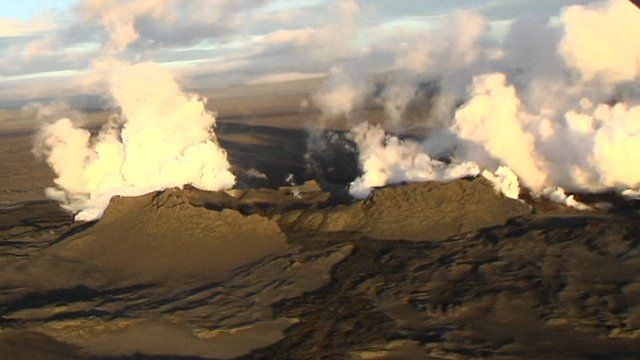 Iceland's Bardarbunga volcano from the air