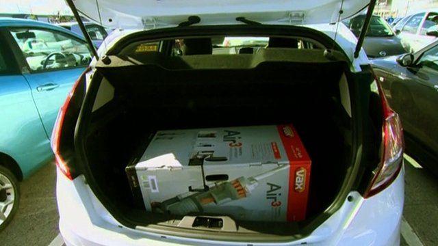 Vacuum in boot
