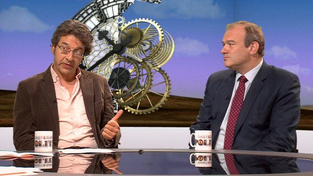 George Monbiot and Ed Davey