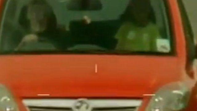 Car in police camera footage