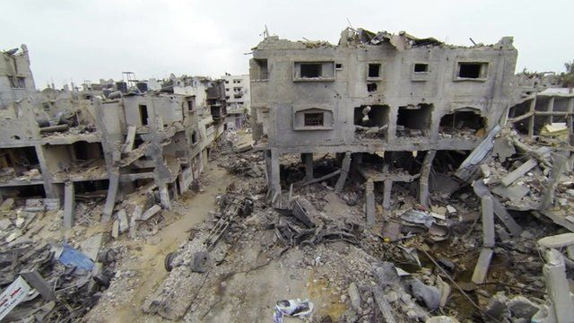 Drone footage reveals the extent of damage to Gaza City