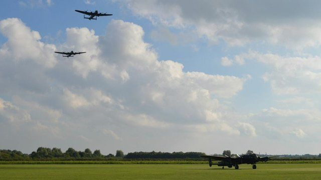 Lancaster bombers and Just Jane