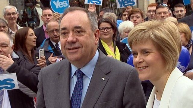 Alex Salmond with Nicola Sturgeon