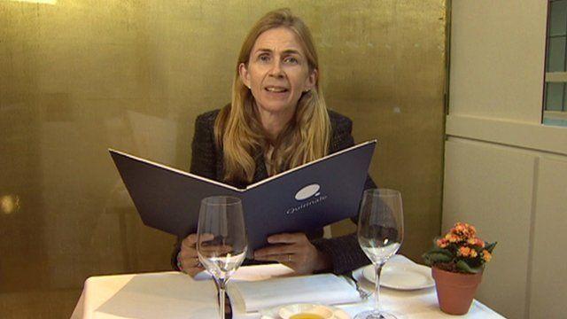 Alice Thomson in restaurant