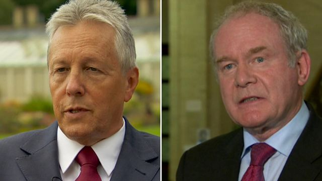 "Peter Robinson said the arrangements were ""no longer fit for purpose"", but Martin McGuinness questioned the motives of the DUP"